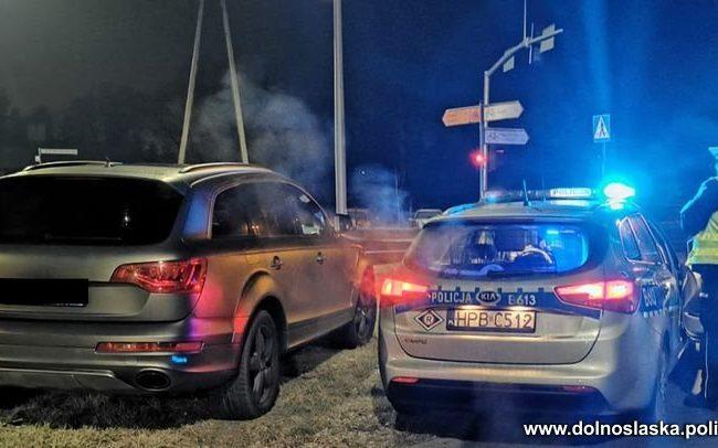 Kierowca Audi zatrzymany