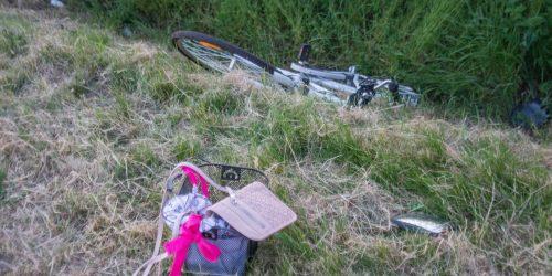 rower wypadek